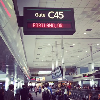 Flight to Portland